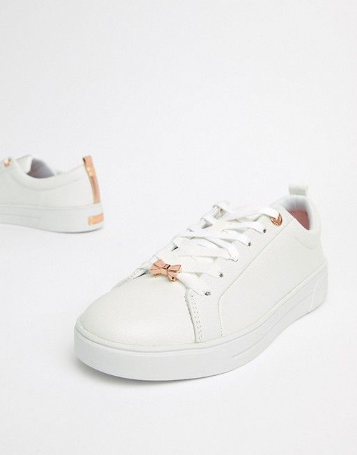 new concept sells cheapest price Ted Baker | Ted Baker White Leather Sneakers With Rose Gold ...