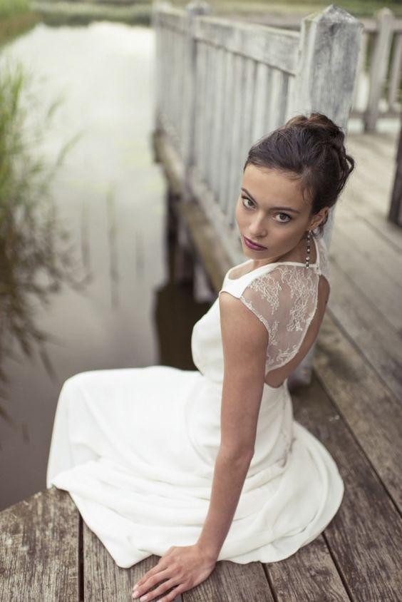 lambert creations robes de mariee collection 2015 la mariee aux pieds nus modele anette. Black Bedroom Furniture Sets. Home Design Ideas