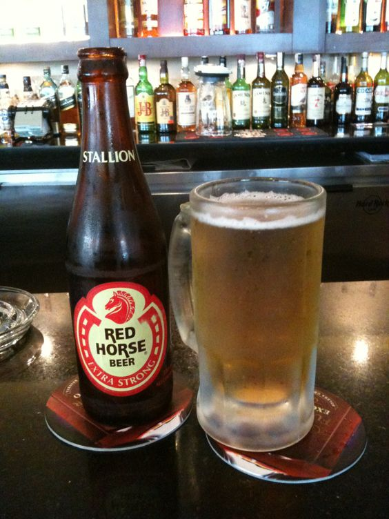 Ice cold red horse beer craft beer crafts and white horses on