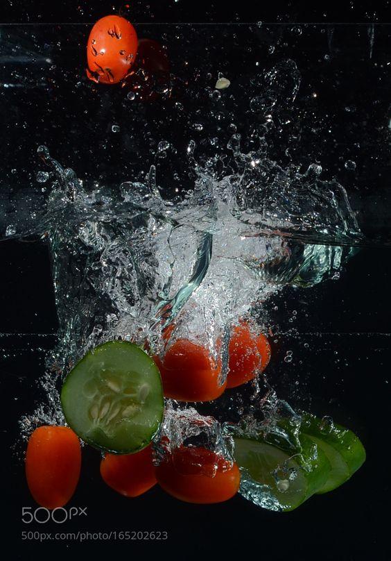Fotografía Splash con verduras by danielgbueno