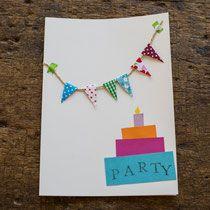 Einladungskarte für den Kindergeburtstag selbst gemacht