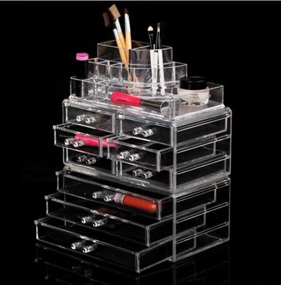 Estante de acr lico maquillaje cosm ticos joyer a organizador visualizar 9 cajones de - Organizadores cajones ikea ...