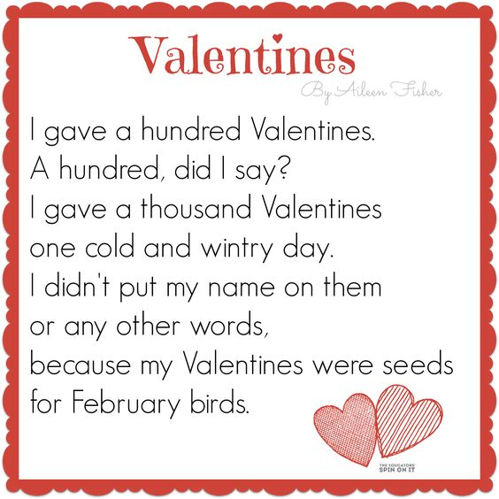 Valentines day poems for parents