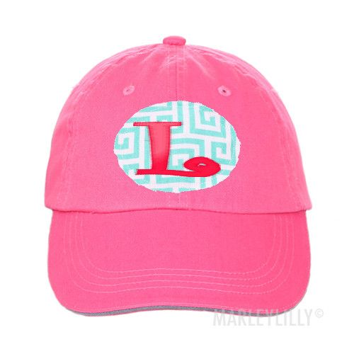 Monogrammed Frayed Patch Baseball Hat | Marley Lilly