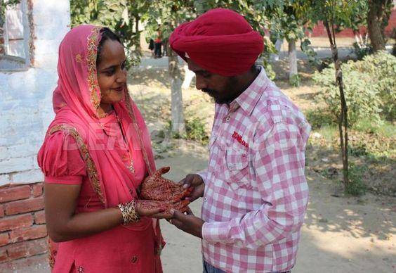 Karva Chauth celebrations at Amritsar Central Jail. November 2nd, 2012.