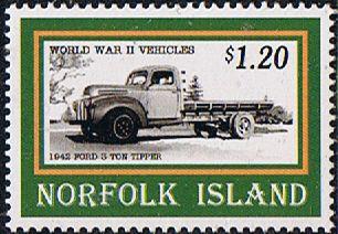 Norfolk Island 1995 Second World War Vehicles Fine Mint SG 598 Scott 583 Other Norfolk Island Stamps HERE