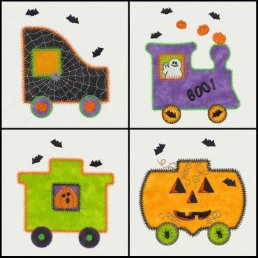 GO! Halloween Train Embroidery by V-Stitch Designs (VQ-HT1)