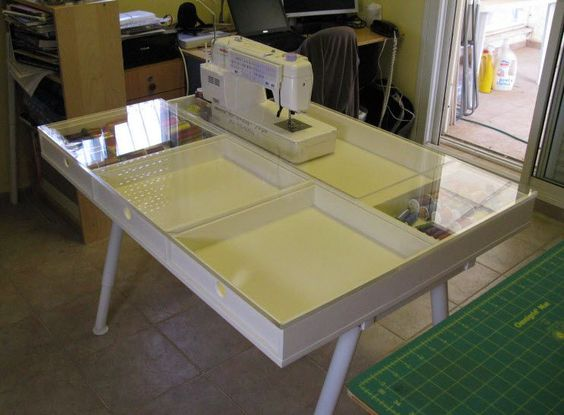 sewing machine tables ikea sewing rooms and craft tables on pinterest. Black Bedroom Furniture Sets. Home Design Ideas