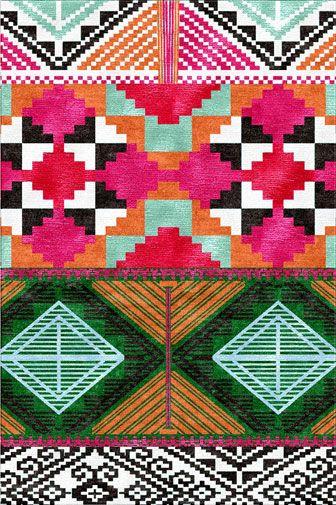 An Inigo Elizalde rug, from http://www.interiordesign.net/newproducts/13942-Inigo_Elizalde_Rugs_Tesoro_I.php