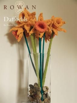 Knitted Daffodil Brooch Pattern : Daffodils Crochet - Flowers & Plants Pinterest Daffodils, Knitting ...