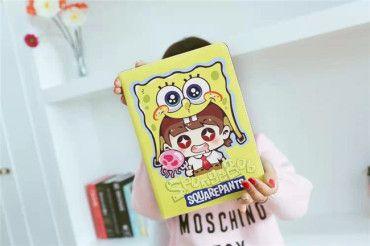 Doraemon Crayon Shin-Chan SpongeBob Schwammkopf Stitch One Piece Cartoon Schutz Case für ipad