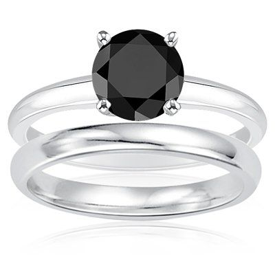 beautiful black diamond engagement rings: