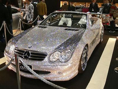 diamond-covered mercedes:)