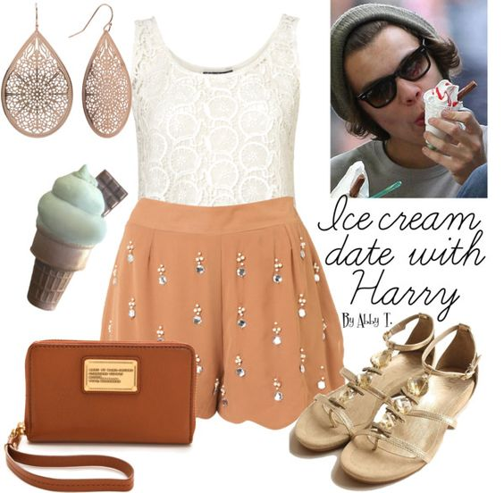 """""""Ice Cream date"""" by abbytamase ❤ liked on Polyvore"""