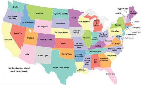 Your State In Maps Which Show Was Set In Which State - Funny maps of the us