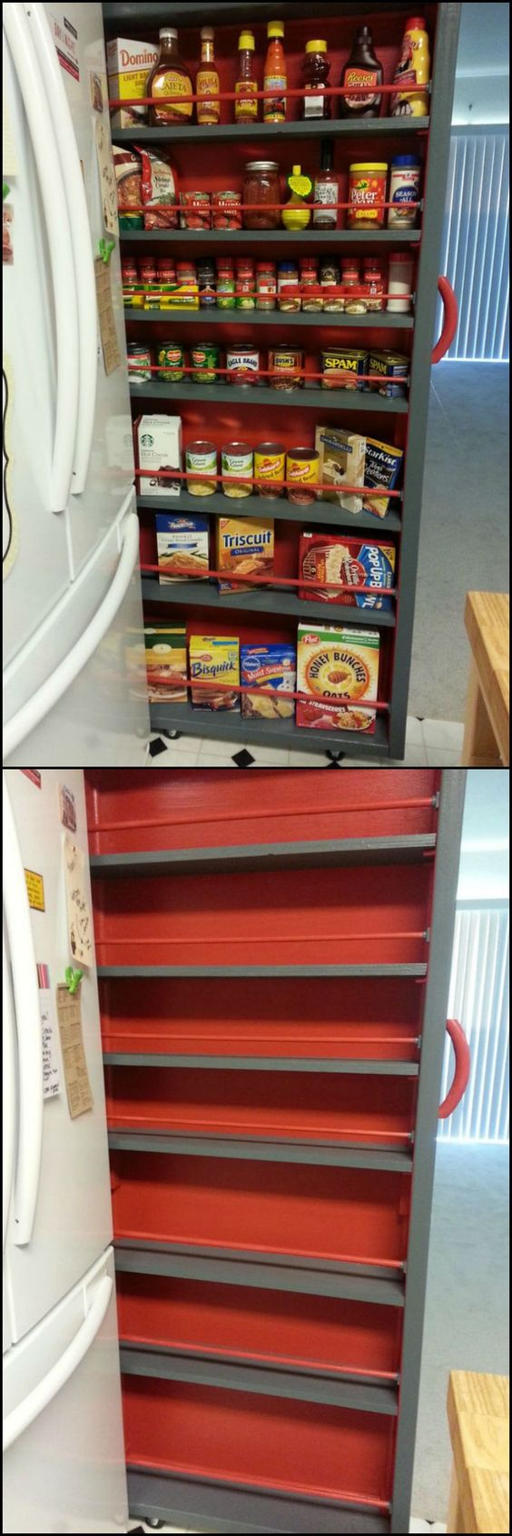 how to build food pantry shelves