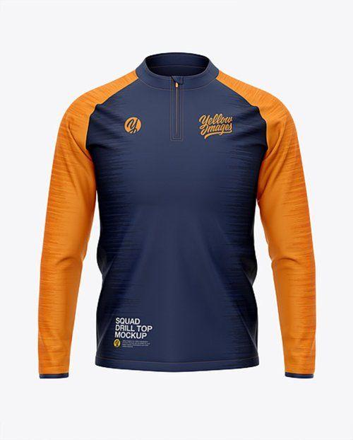 Download Mens Squad Drill Top Front View 42208 Tif Free Download Clothing Mockup Soccer Tshirts Shirt Mockup
