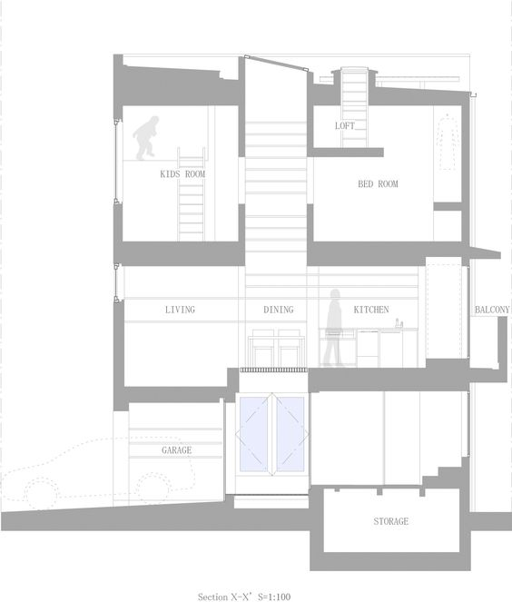Image 12 of 13 from gallery of House in Nada / Fujiwarramuro Architects. Section