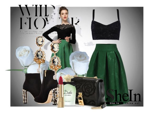 """Green Plaid Skirt"" by chrisfili ❤ liked on Polyvore featuring art"