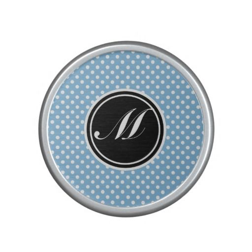 Placid Blue and Monogram Bluetooth Speaker