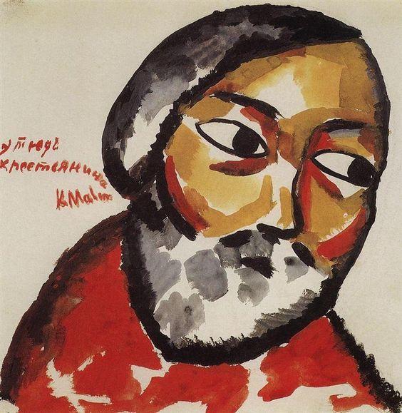 Estudio para cabeza de campesino. Kazimir Malevich