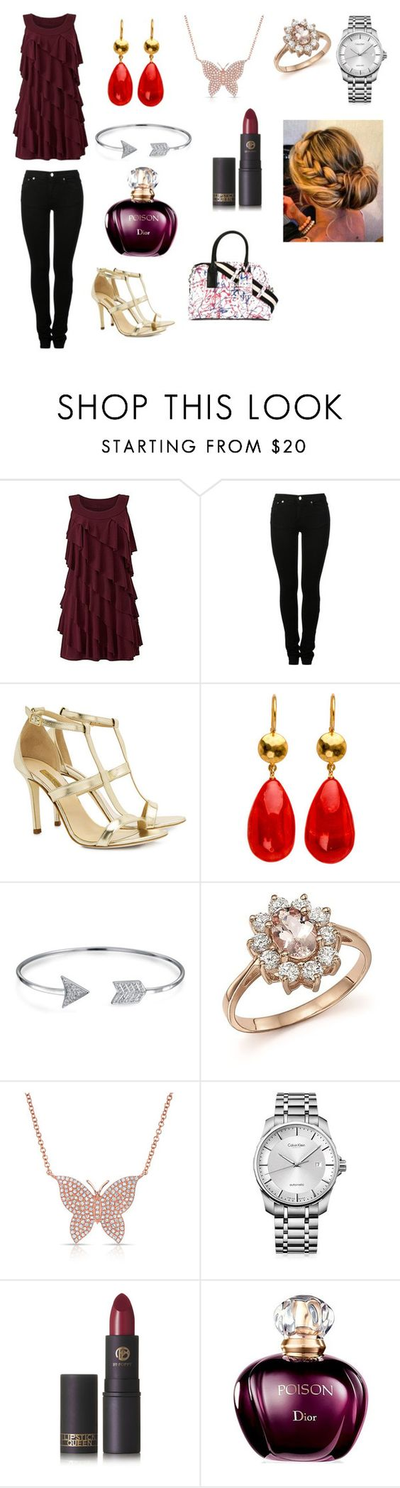 """King of Pain"" by madhura-datar on Polyvore featuring MM6 Maison Margiela, Dee Keller, Bling Jewelry, Bloomingdale's, Anne Sisteron, Calvin Klein, Lipstick Queen and Marc Jacobs"
