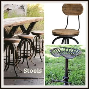 Farmhouse, Country & Industrial Stools