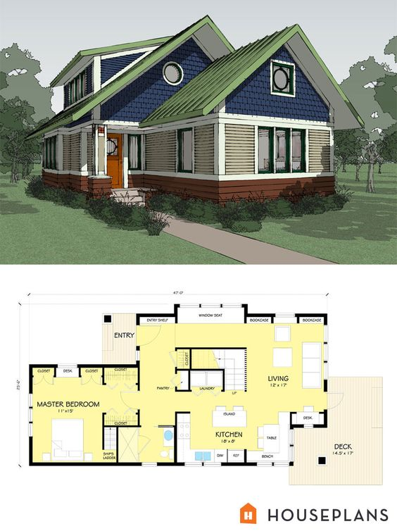 Small Energy Efficient Craftsman Bungalow Designed By