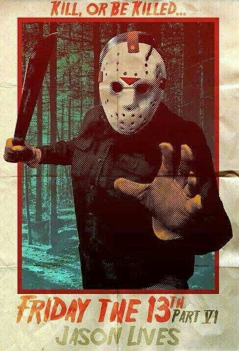 FRIDAY THE 13TH VI JASON LIVES Movie Poster Horror Jason Voorhees