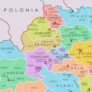 Province of BucovinaCâmpulung DepartmentCernăuți DepartmentRădăuți DepartmentStorojineț DepartmentSuceava Department