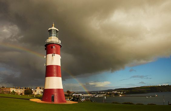 Smeaton's Tower is  most notable Eddystone Lighthouse.  rebuilt on Plymouth Hoe in the city of Plymouth, Devon where it now stands as a memorial to its designer, John Smeaton, the celebrated civil engineerPlymouth, Devon, South West England-50.36441,-4.14183