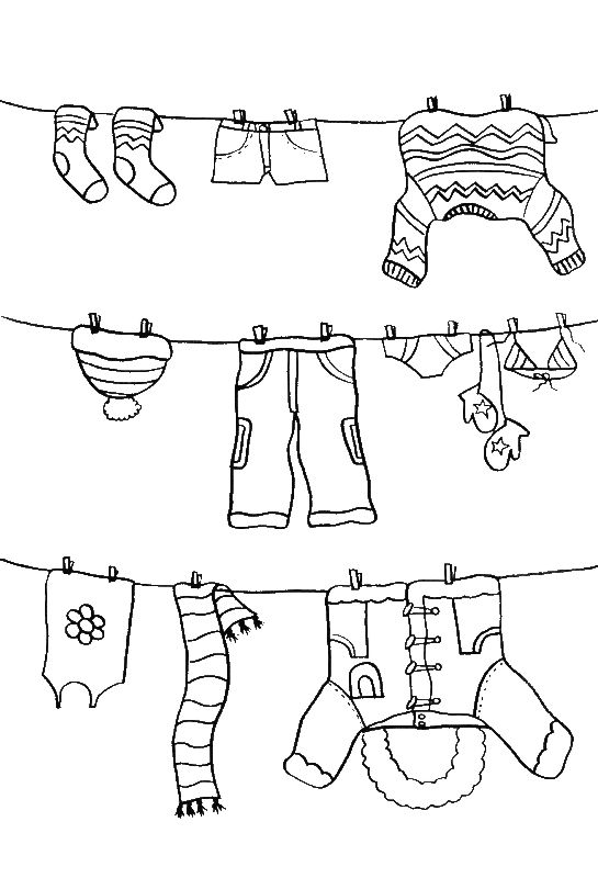 free coloring pages clothes | Pictures Color The Winter Clothes Coloring PAges - Winter ...