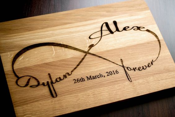 Cutting Board Wedding Gift Personalized gift Wedding Gift Infinity Wedding Cutting Board Gift for couple Wedding Gift Bridal Shower Gift