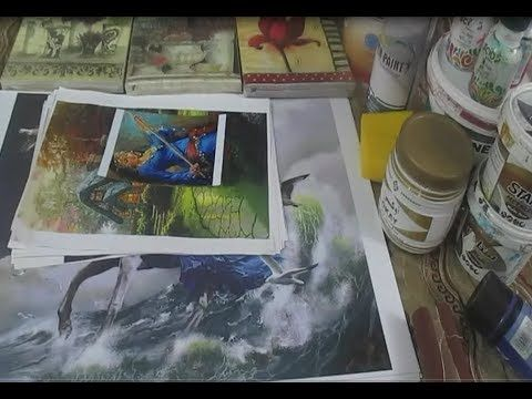 خامات الديكوباج و ادواته واماكن بيعها واسعارها من ورشتى Youtube Decoupage Electronic Products Art