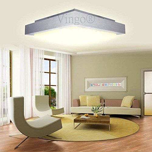 VINGO® 12W LED Modern Eckig Deckenleuchte Deckenlampe Warmweiß für ...