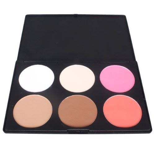 6 color contour face powder makeup blusher palette by donner perfect for professional. Black Bedroom Furniture Sets. Home Design Ideas