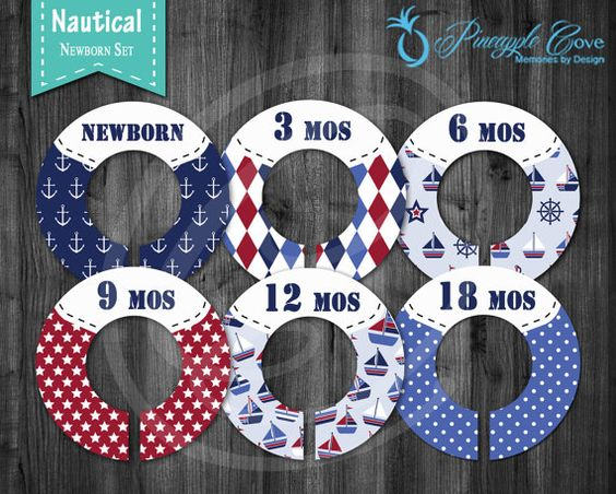 Baby Boy Closet Dividers to Organize Clothing for Baby Room | Nautical