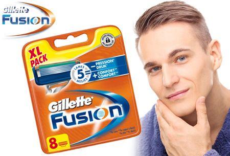 Gillette Fusion 8-pack scheermesjes nu slechts €18,95 | Voor een ultiem  glad scheerresultaat