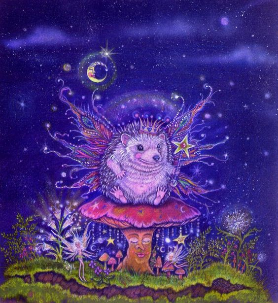 Copyrighted by Donna M. Antonucci Winston the Fairy hedgehog King $18.00