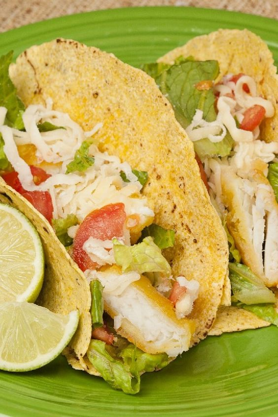 Vegetables cilantro and tacos on pinterest for Simple fish taco recipe