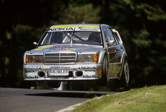 Ellen Lohr in the AMG Mercedes 190 Evo II on the Nordschleife 1992. She was the only woman who ever won a DTM-Race (Hockenheimring 1992).