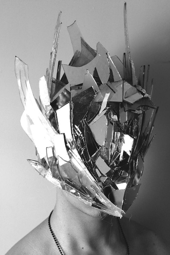 Multimedia artists and graphics on pinterest for Broken mirror art