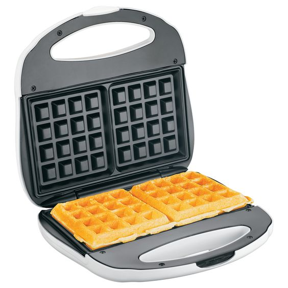 Features:  -Nonstick grids.  -Power and preheat lights.  -Wafflemakers…