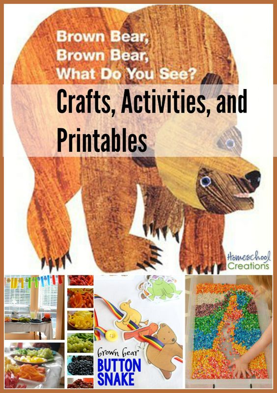 Brown Bear, Brown Bear crafts, activities, and printables to go along with the book.