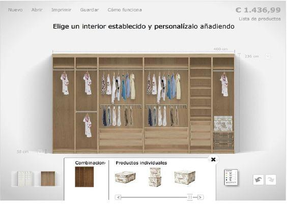 Proyecto de armario empotrado decorar tu casa es - Modulos armarios empotrados ...