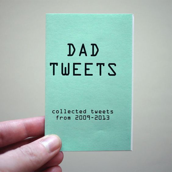 Dad Tweets is a best-of collection of my dads twitter account. Item will be shipped in a standard size envelope by USPS First Class mail. This book SHIPS FREE with larger items.