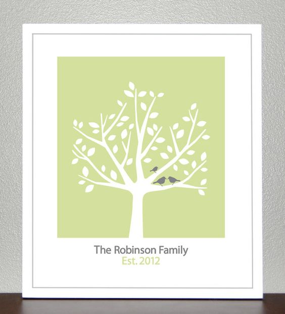Fathers Day Gift  Personalized Family Tree  by CreativeWildChild, $24.00