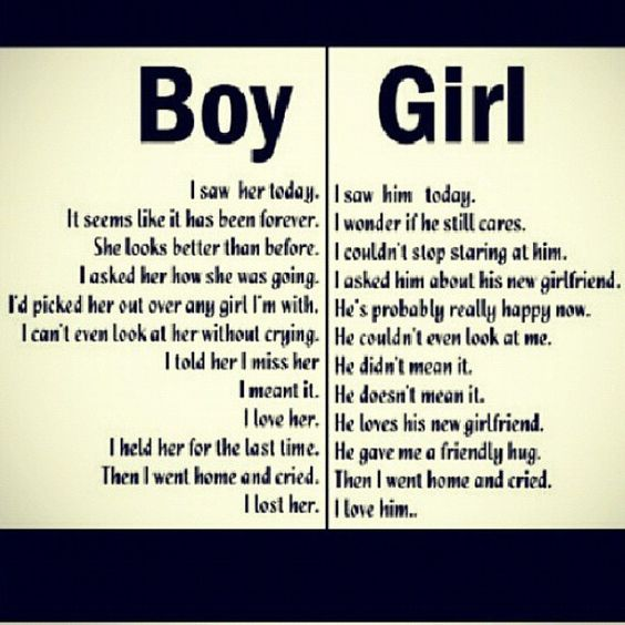 I Like It And Him: Boy And Girl Thinking, Thought Process. Truth I Saw Her