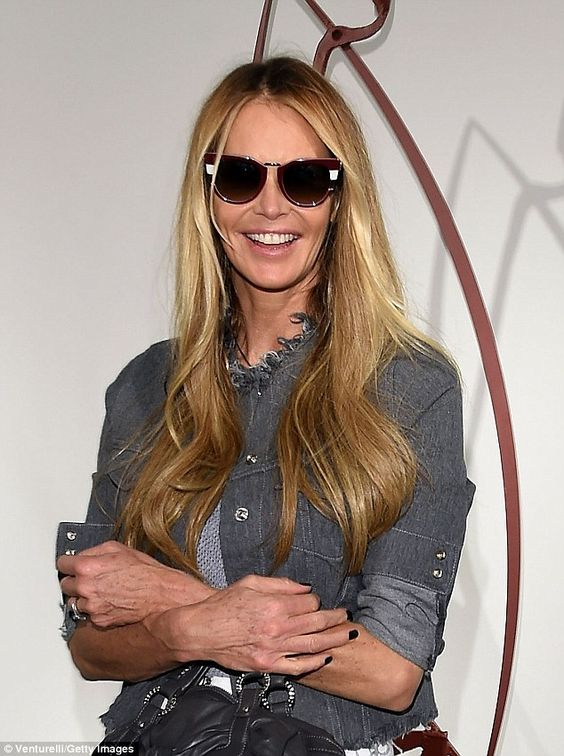 Evergreen: The supermodel nicknamed 'The Body' easily defied her 50 years in a grey denim ...