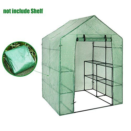 Cheap Walk In Greenhouse Cover Plastic Replacement Garden Cover 2 Tier 8 Shelf Portable Green House Plant Cove Greenhouse Cover Walk In Greenhouse Plant Covers